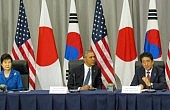 On Nuclear Summit Sidelines, US, South Korea, and Japan Stand Against North Korea
