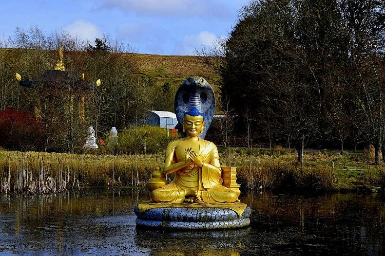 A Bodh statue in Samye Ling. Photo by Bradley Jardine.