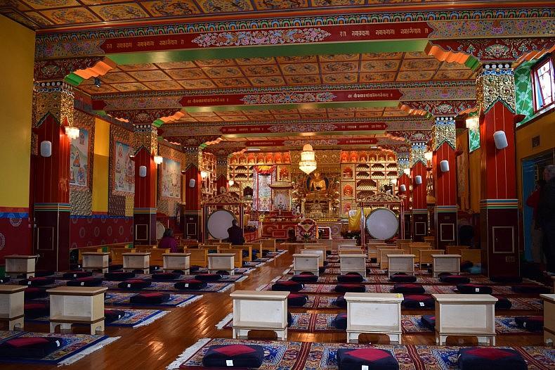 The monastery's prayer room. Photo by bradley Jardine.