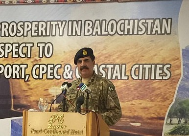 Pakistan Army Chief Accuses India of Undermining China-Pakistan Economic Corridor