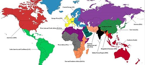India On A Map Of The World.How India Sees The World The Diplomat