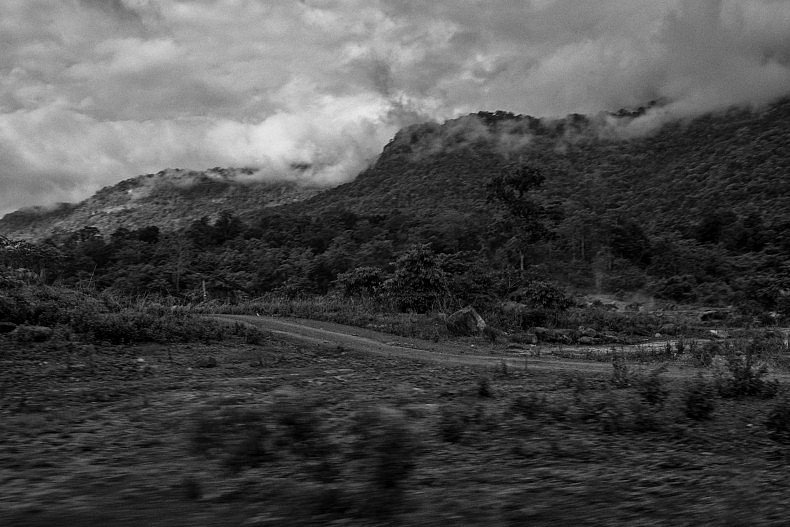 Clouds hang low on the way to Pakse. Photo by Gareth Bright.