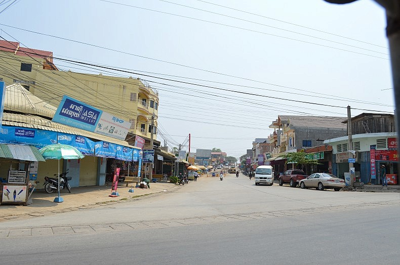 A view of the main street in Pailin. Photo Credit: Anya Palm