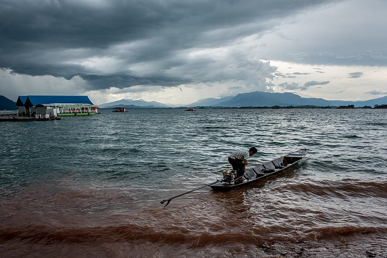 "The Nam Ngum hydro power dam was the first major hydro power project constructed in Laos and the vast reservoir has been dubbed ""The Laos Sea"" by many locals. Photo by Luc Forsyth."
