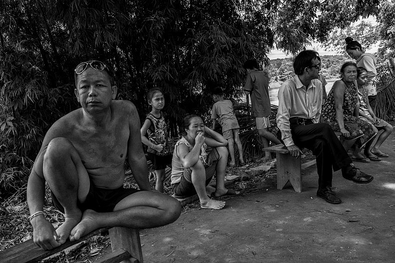 People in the village of Baan Thaxan. Photo by Gareth Bright.