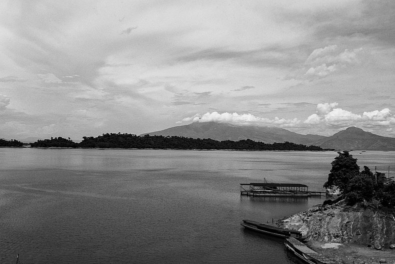 "The vast reservoir created by the Nam Ngum dam has been dubbed ""The Laos Sea"" by many locals. Photo by Gareth Bright."