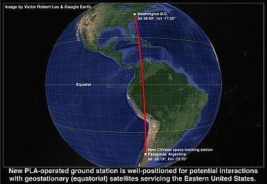 DC Patagonia line on globe 2.2M
