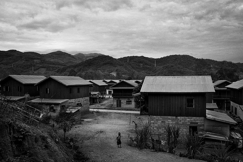 The camp is home to hundreds of families displaced by the construction of hydropower dams. Photo by Gareth Bright.