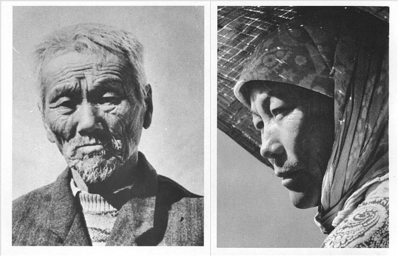 Left: Park Ken Dyo, the creator of kendyo type of rice that rose him to prominence in Soviet Uzbekistan. Right:  A Korean farmer in Soviet Uzbekistan. Courtesy of Victoria Kim