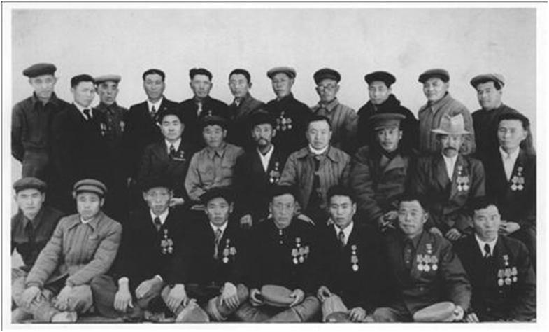 Uzbek Korean heroes of socialist labor in the late 1940s - early 1950s. Courtesy of Victoria Kim.