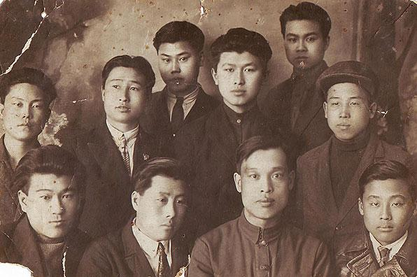 Young Soviet Korean university students in 1934, three years before the deportation. Courtesy of Victoria Kim.