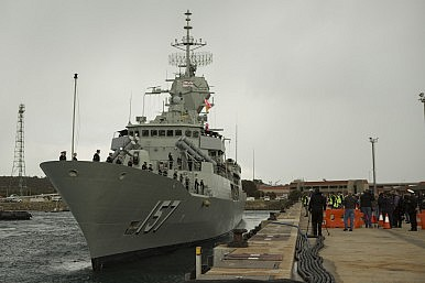 Australia Sends First Upgraded Anzac-Class Frigate to Middle East
