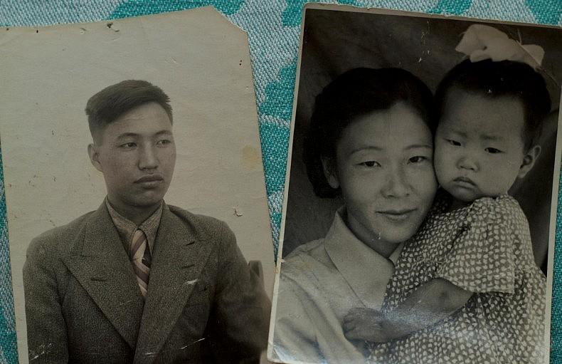 Konstantin Ten and Galina Lee, Nikolay's parents, with his elder sister. Courtesy of Victoria Kim