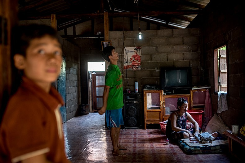 A family home in the the village of Khoc Khom. Photo by Luc Forsyth.