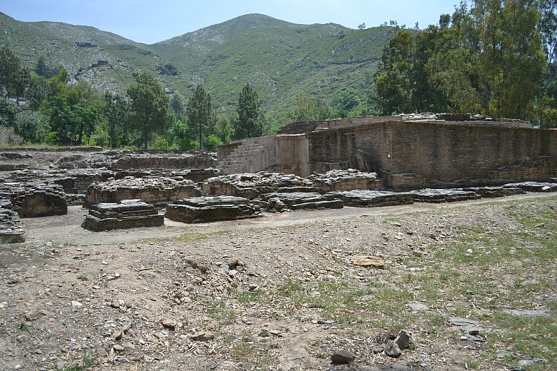 Swat Buddhist Stupas where Osman is securing the site