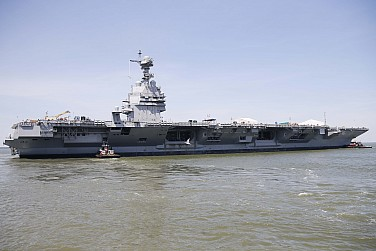 US Navy to Receive New $13 Billion Aircraft Carrier in April (Maybe)