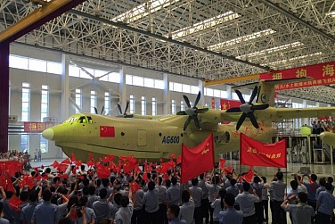 Maiden Flight of China-Built World's Largest Amphibious Aircraft Set for May