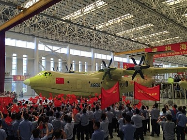 China-Built World's Largest Amphibious Aircraft Gears Up for Maiden Flight