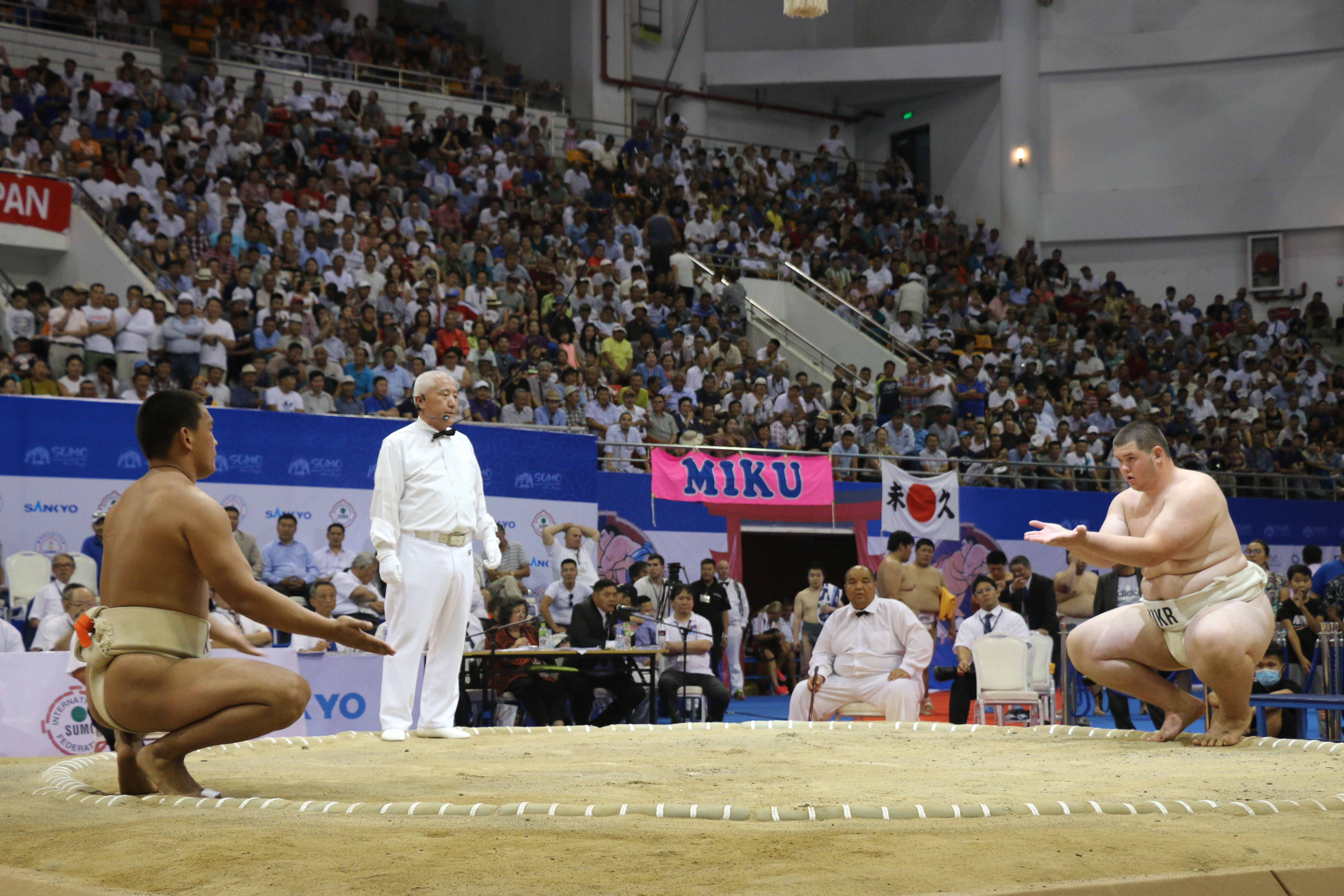 The World Sumo Championships in Mongolia