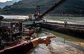 Dredging the Lancang River