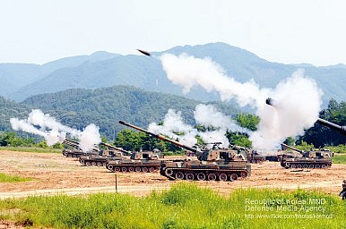 South Korea Holds Largest-Ever Live-Fire Artillery Drills
