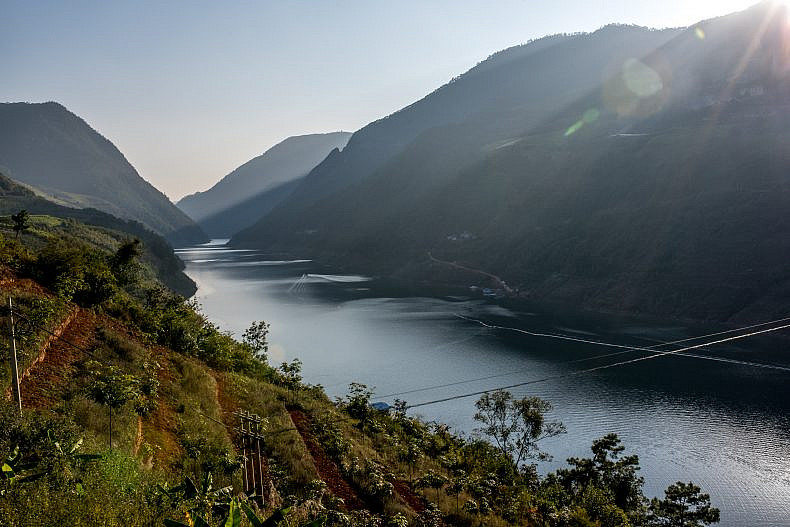 A view of one of the Lancang (Mekong) tributaries in Jinglin, Yunnan Province, China. Photo by Luc Forsyth.
