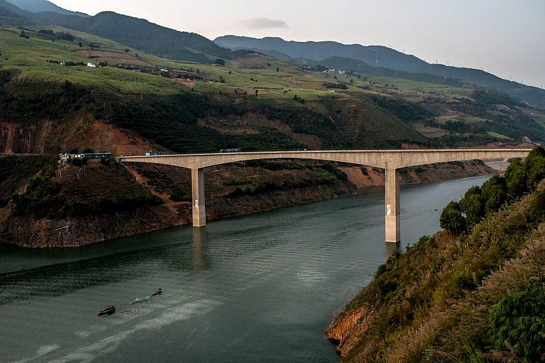A view of the Lancang (Mekong) river in Jinglin, Yunan Province, China.