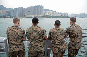 2 US Warships Make Port Call in Hong Kong