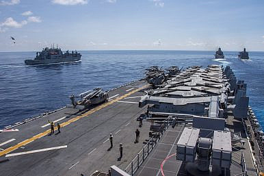 US Navy Holds Naval Drill in South China Sea