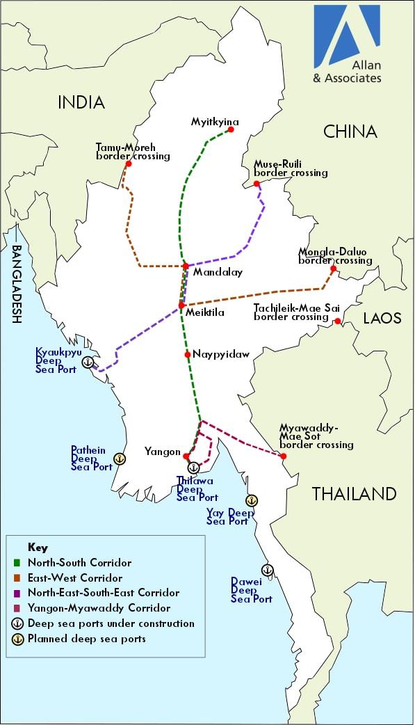 Myanmar's Road Construction Plans: Potholes Ahead | The Diplomat on bandar seri begawan map, mekong river map, bangkok map, yangtze river map, burma map, taipei map, hong kong map, taiohae map, bumthang map, hanoi map, myanmar map, kuala lumpur map, islamabad map, naypyidaw map, murang'a map, vientiane map, manila map, rangoon map, jakarta map, great wall of china map,