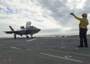 US Navy Begins Testing of F-35B on Largest-Ever Amphibious Assault Ship