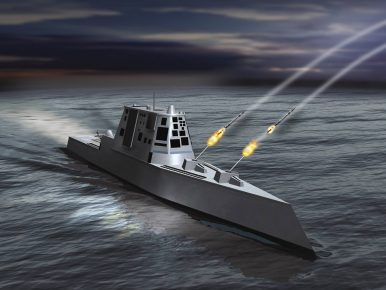 US Navy's Most Advanced Stealth Warship Has No Bullets for Its Big Guns