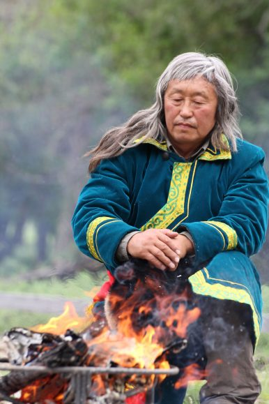 Danil Mamyev is an indigenous community leader and spiritual practitioner in southern Siberia's Altai Republic. Photo by Christopher McLeod.