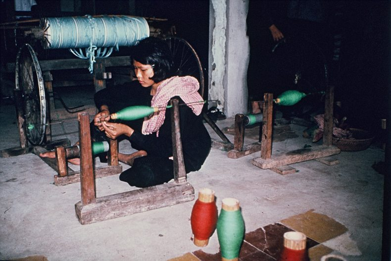 2.A young Cambodian woman in one of the working cooperatives. Photo by Gunnar Bergström from the archives of the Documentation Center of Cambodia (DC-Cam)