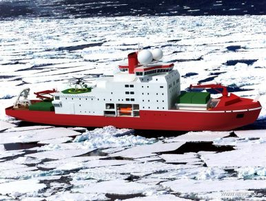 China Begins Construction of Polar Icebreaker