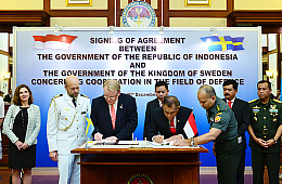 Indonesia, Sweden Ink New Defense Pact