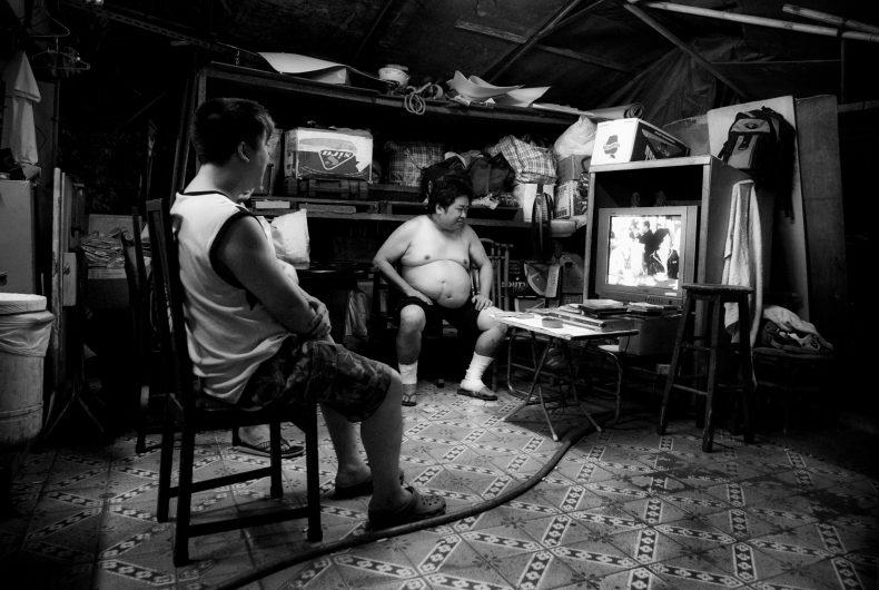 Cage Home TV Room, Mong Kok. Photo by Jonathan van Smit.