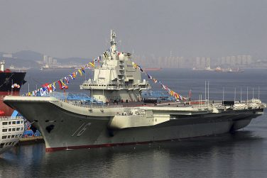 Taiwan Scrambles Fighters as China's Aircraft Carrier Enters Taiwan Strait