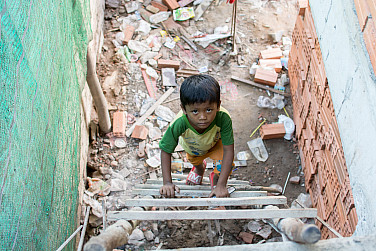 The World of Cambodia's Construction Site Children