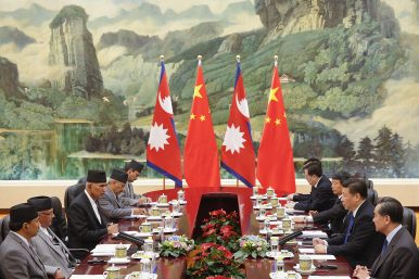 after the ublockadeu chinaus push into nepal