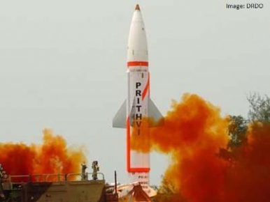 India Conducts Successful User Trial of Prithvi-II Short-Range Ballistic Missile