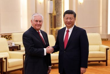 US Secretary of State Tillerson Meets Chinese President Xi
