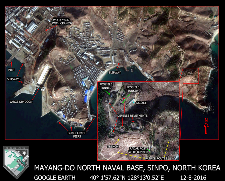 North Koreas Most Important Submarine Base The Diplomat - Google map us base korea