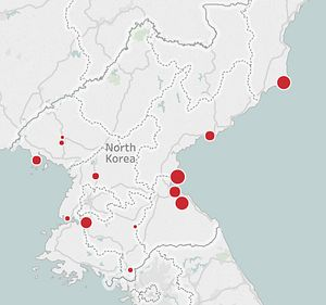 Every North Korean Missile Launch Since 1984 Visualized