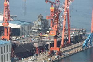 China's First Domestically Built Aircraft Carrier May Launch Any Day Now