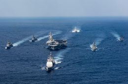 US Carrier Strike Group Joined By Japanese Warships for Philippine Sea Exercise