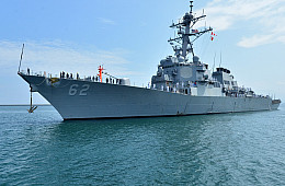 US Destroyer Makes Port Call in Philippines' Subic Bay