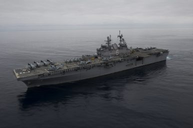 US Navy's Largest Ever Amphibious Assault Ship Completes Crucial Sea Trials