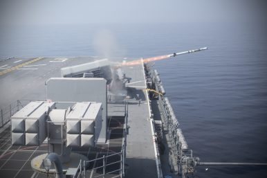 US Navy's Latest F-35-Carrying Warship Shoots Down Drone in Missile Drill