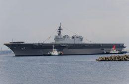 Japan's <em>Izumo</em> Helicopter Carrier to Escort US Navy Supply Ship